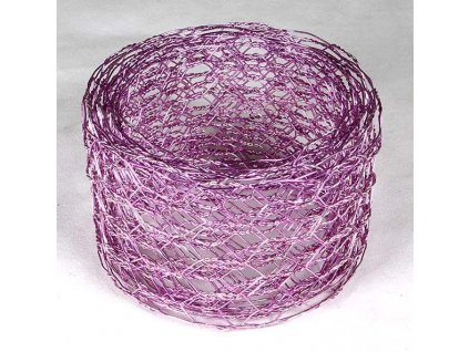 Vázací síťka hexanet - 5 cm, 2,5 m, růžová