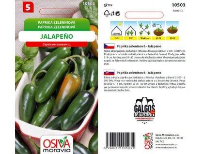 Paprika zel. - pál. JALAPEŇO_0,6 g