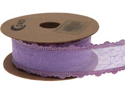 Stuha Georgette 3 cm, 5 m - fialová