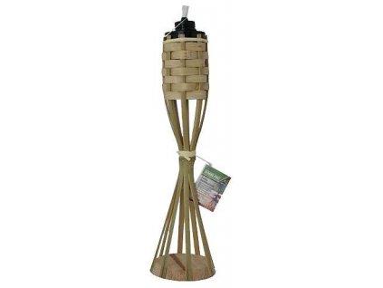Louč bambusová 35 cm stolní, proplétaná