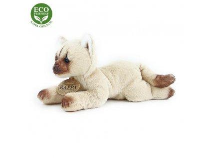 Rappa Plyšová kočka ležící 18 cm ECO-FRIENDLY 1 ks béžová B