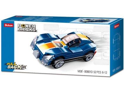 Sluban Power Bricks M38-B0801E Natahovací auto modrý sporťák
