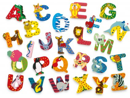 Dřevěná abecedy 1ks - písmenko B