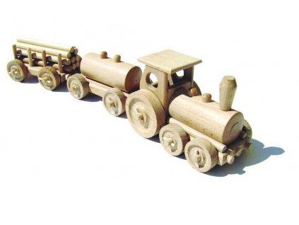 Ceeda Cavity - přírodní dřevěný vláček - Nákladní vlak