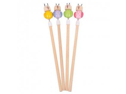 Bigjigs Toys tužka sovička 1ks fialová Bigjigs Toys tužka sovička 1ks fialová