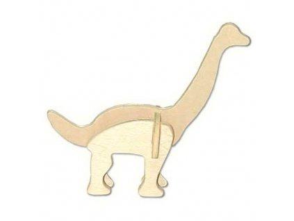 Woodcraft Dřevěné 3D puzzle mini skládačka Brachiosaurus