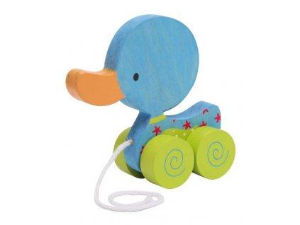 Small Foot Tahací hračka na provázku  modré kačátko