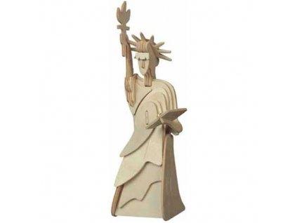 Woodcraft Dřevěné 3D puzzle socha svobody menší