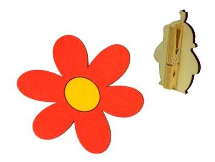 DoDo Veselý kolíček s dekorací Krtkova kytička
