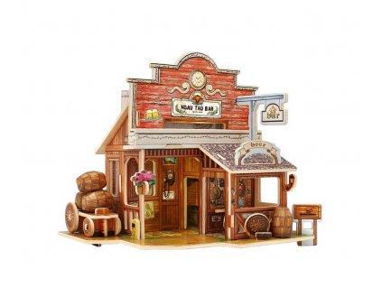 RoboTime Dřevěná skládačka Americký bar