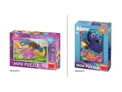 Dino Mini puzzle Disney pohádky 8 druhů