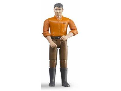Bruder BWORLD Figurka muž hnědé kalhoty