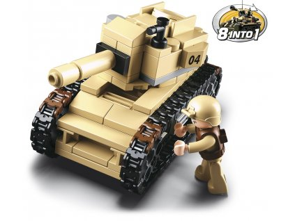 Sluban Army 8into1 M38-B0587B Tank