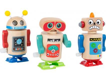 Small Foot Dřevěný natahovací robot 1ks modrá
