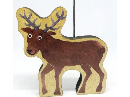 Dřevěná loutka Jelen