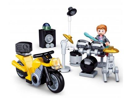 Sluban Town Motorky M38-B0717B Bubeník s  motorkou