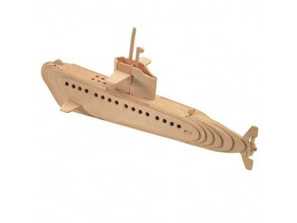 Woodcraft Dřevěné 3D puzzle ponorka