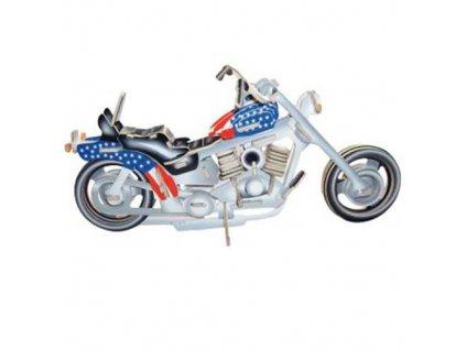 Woodcraft Dřevěné 3D puzzle motorka Harley Davidson I