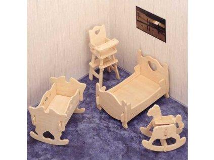 Woodcraft Dřevěné 3D puzzle dětský pokoj