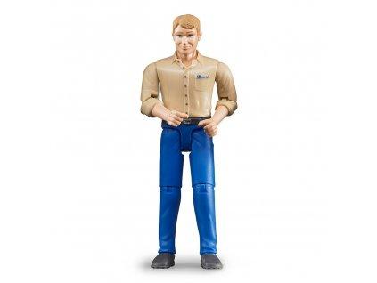 Bruder BWORLD Figurka muž modré kalhoty