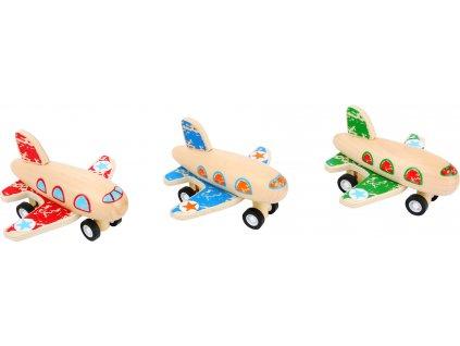 Small Foot Dřevěné natahovací letadlo 1 ks červené