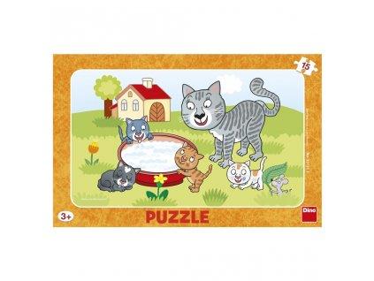 Dino Puzzle Kočičky 15 dílků