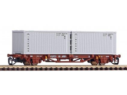 Piko Plošinový vagón Lgs579 ČSD 2x20ft kontejnéry Intrans IV - 47724