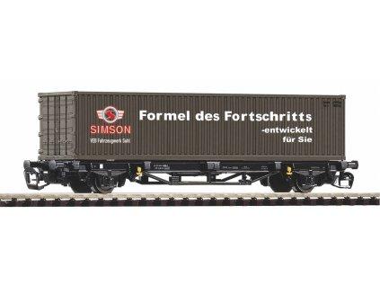 Piko Plošinový vagón Lgs579 DR 1x40ft kontejnér Simson IV - 47722