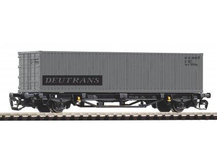 Piko Plošinový vagón Lgs579 DR 1x40ft kontejnér Deutrans IV - 47723