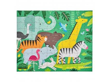 Petitcollage Oboustranné puzzle 2v1 Džungle