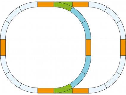 Piko Sada kolejí G pro dvojitý ovál - 35302
