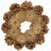Šiškový věnec d 20 cm, lakovaný