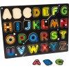 Small Foot Dřevěné puzzle abeceda