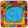 Dřevěné vkládací puzzle slon