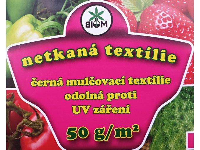 Biom Netkaná textilie černá 1,6x10m
