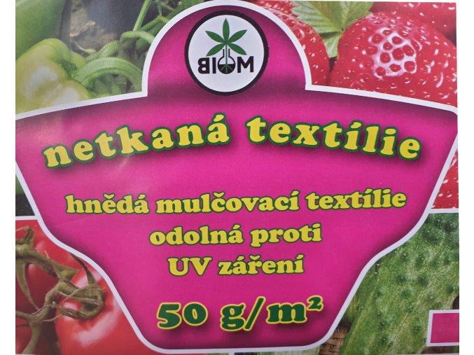 Biom Netkaná textílie hnědá 1,6x5m