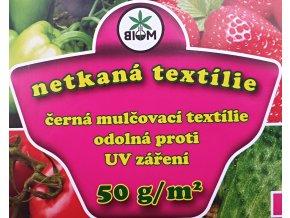 Biom Netkaná textílie černá 1,6x5m