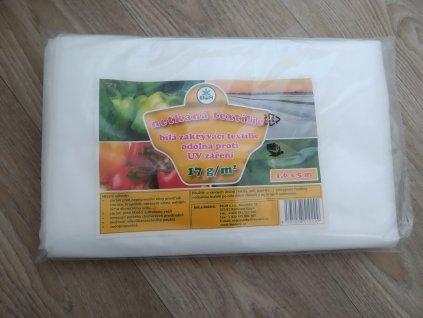 Biom netkaná textilie - bílá 17 g 1,6x5 m
