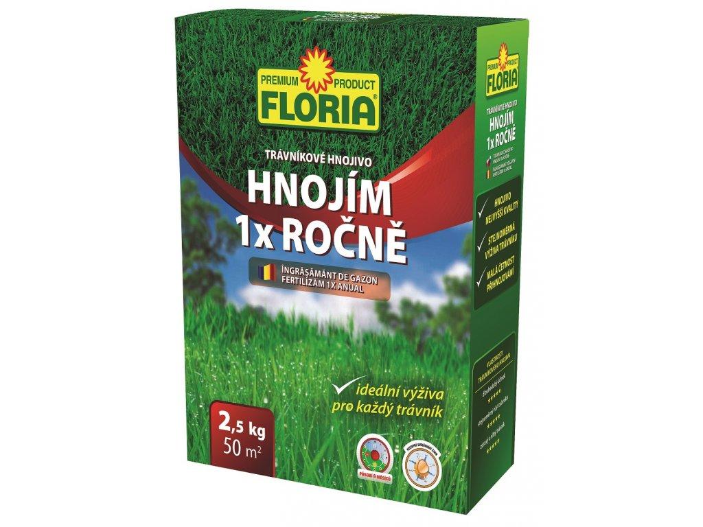 008410 FLORIA Dlouhodobe travnikove hnojivo Hnojim 1x rocne 2,5kg 8594005002029