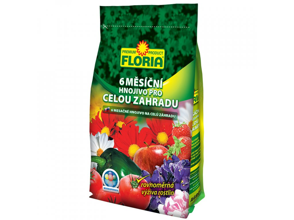 008218 FLORIA 6 Měsíční hnojivo pro celou zahradu 500g 8594005007260