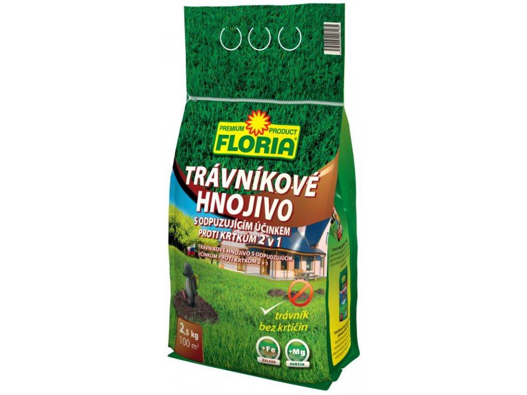 008215 FLORIA Travnikove hnojivo s odpuzujicim ucinkem proti krtkum 2,5 kg 8594005007185 P