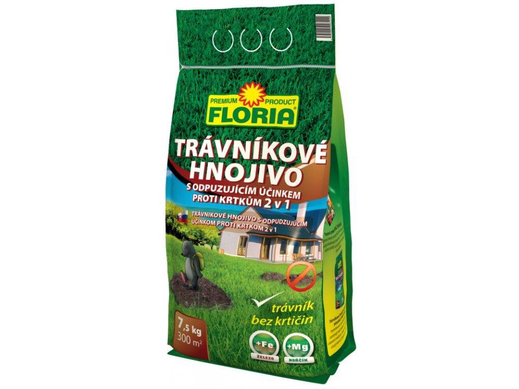 008214 FLORIA Travnikove hnojivo s odpuzujicim ucinkem proti krtkum 7,5 kg 8594005007222 P