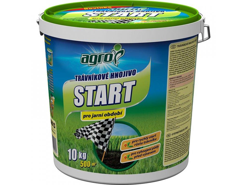 000333 AGRO Travnikove hnojivo START 10kg kbelik 8594005006270