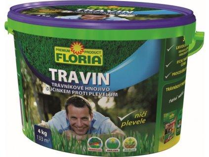 017088 FLORIA Travnikove hnojivo s ucinkem proti plevelum TRAVIN 4 kg 8594028310026