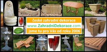 České zahradní dekorace