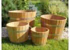 Venkovní květináč dubový - vědro pr.350x250