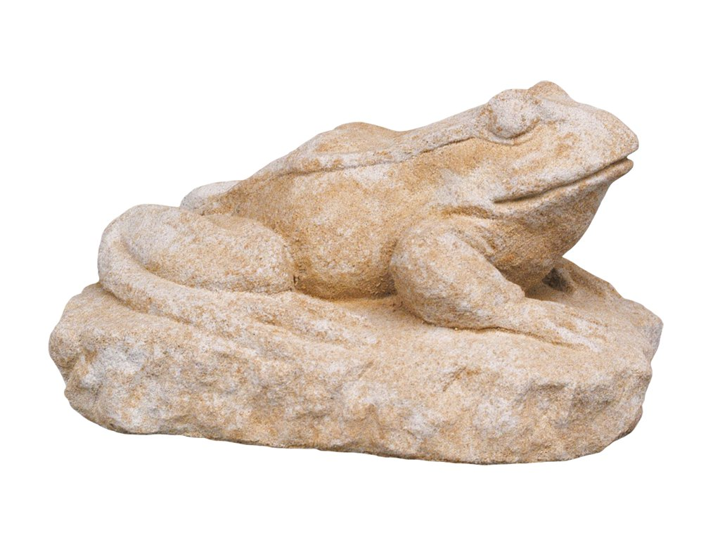 zahradní dekorace zvířat - zahradní sochy zvířat, Žába na podstavci 9kg  T