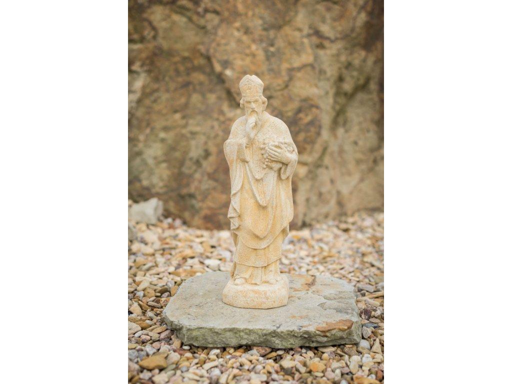zahradní sochy a dekorace, Svatý Urban s hroznem 13x11x47cm 4,5 kg J