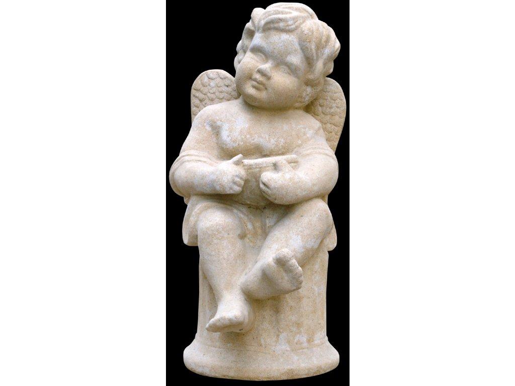 zahradní sochy - zahradní dekorace, Andílek s miskou  10 kg  T