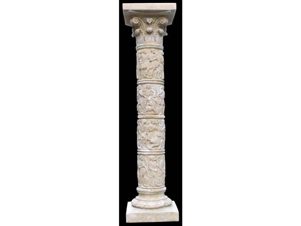 fasádní a stavební prvky, Sloupek vysoký s reliéfy  35kg  T
